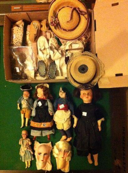 Lot: une poupée JUMEAU, bouche fermée, tête...