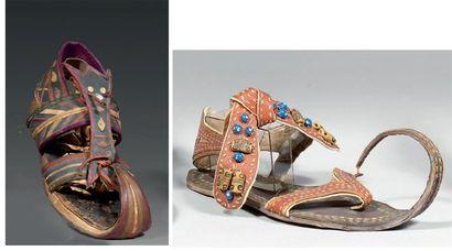 Deux modèles de sandale, Egypte antique,...