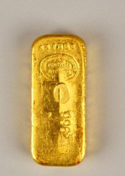 Lingot n°337861 P: 9963 g Compagnie des métaux...