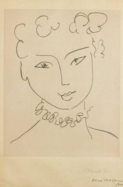 Henri MATISSE Etude sur le thème de La Pompadour. 1951 (M.Duthuit - Matisse, C. Duthuit...