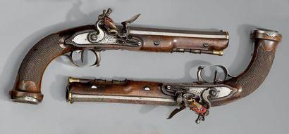 Rare paire de pistolets à silex commandée par l'Empereur NAPOLÉON 1er, pour son...
