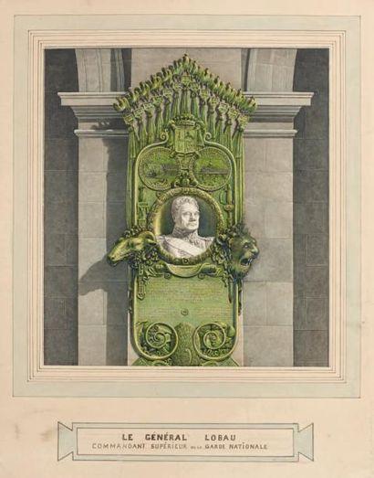 Projet de monument dédié au maréchal Mouton:...