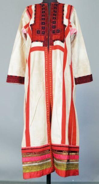 Grand manteau en coton, début XXème siècle,...