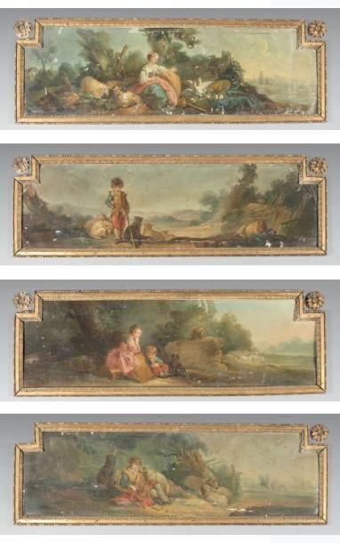 Ecole FRANCAISE du XVIIIème siècle, atelier de Jean Baptiste HUET