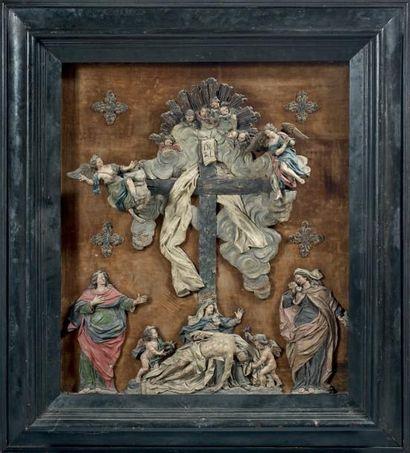 Rare descente de croix, en plomb finement...