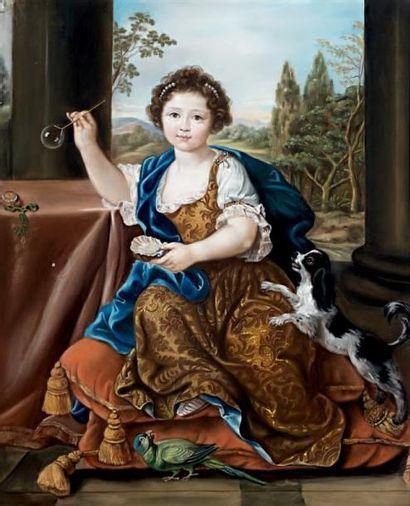 Pastel figurant Louise de Bourbon Condé,...