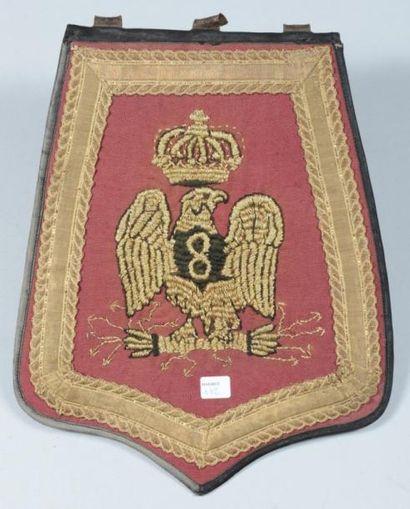 Sabretache d?officier du 8e régiment de hussards,...