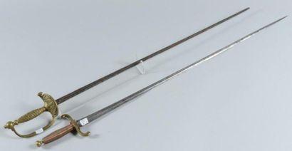Epée fantaisie montée avec une lame XVIIIe...