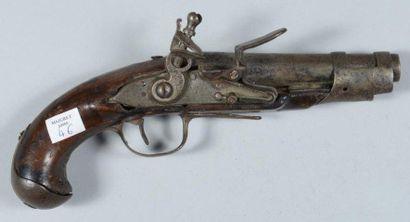 Pistolet de gendarmerie modèle 1770, bois...