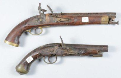 Pistolet militaire anglais à silex, incomplet...