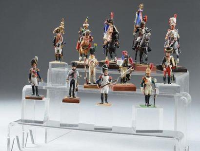 Lot de soldats de plomb du Premier Empire,...
