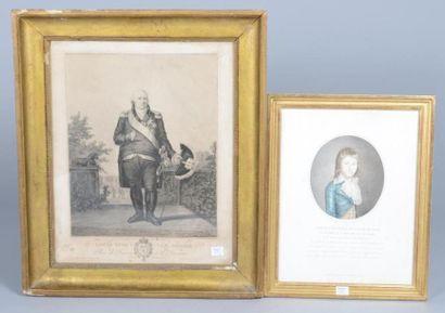 Gravure représentant Louis XVIII le Désiré,...