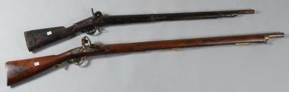 Fusil de type militaire anglais à silex,...