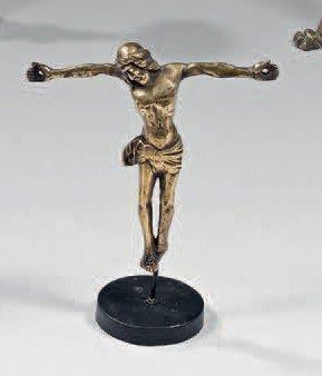 Christ en bronze doré d'applique (dos évidé)....