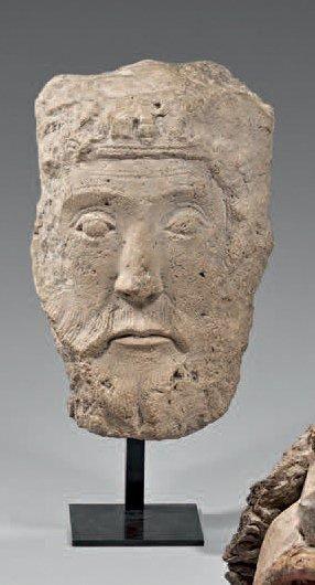 Rare tête de roi de l'Ancien Testament, en...