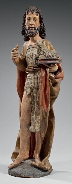 Grand et beau Saint Jean-Baptiste en bois...