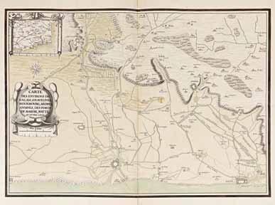 [MILITARIA - CALAIS / MANUSCRIT]. «Carte des environs de Calais, Gravelines, Bourbourg,...