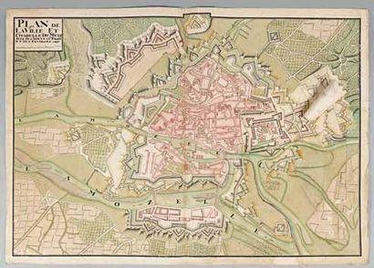 [MILITARIA - METZ / MANUSCRIT]. «Plan de la ville et citadelle de Metz avec ses...