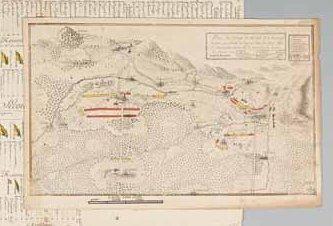 [MILITARIA - ALLEMAGNE / MANUSCRIT]. «Plan des camps de Kirloch et de Bruchsal occupés...