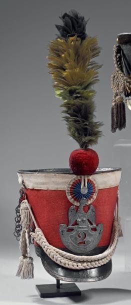 Shako du 2e régiment des gardes d'honneur...