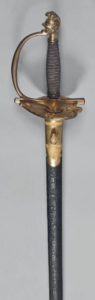 Rare épée d'uniforme d'officier de marine,...
