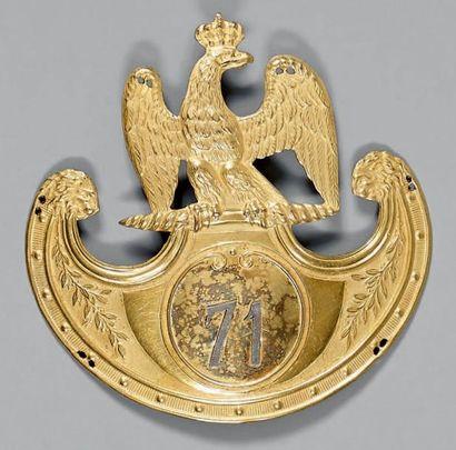 Plaque de shako d'officier du 71e régiment...