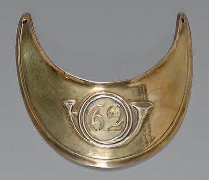Hausse-col d'officier du 62e régiment d'infanterie...