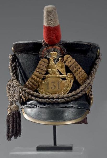 Shako d'officier du 131e régiment d'infanterie...