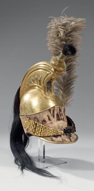 Beau casque d'officier supé-rieur de dragons,...
