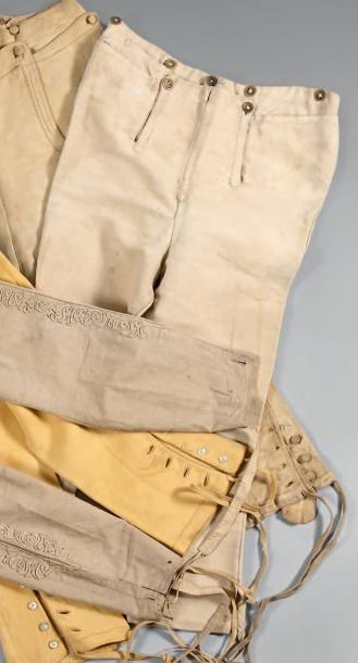 Pantalon d'officier de cavalerie, à pont,...