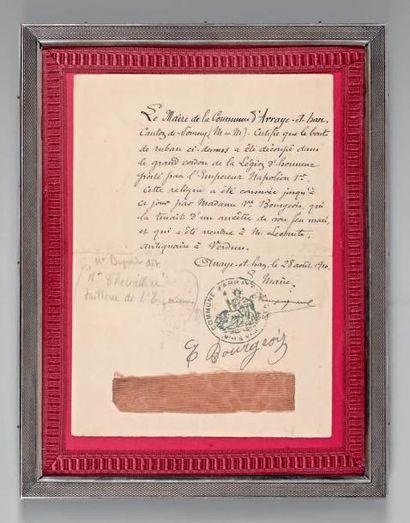 Morceau de grand cordon de la Légion d'honneur...