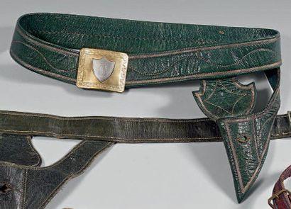 Ceinturon porte-épée de récompense en maroquin...