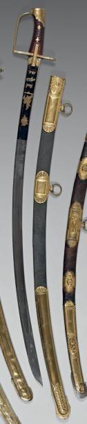 Rare sabre d'officier du 4e régiment de hussards,...