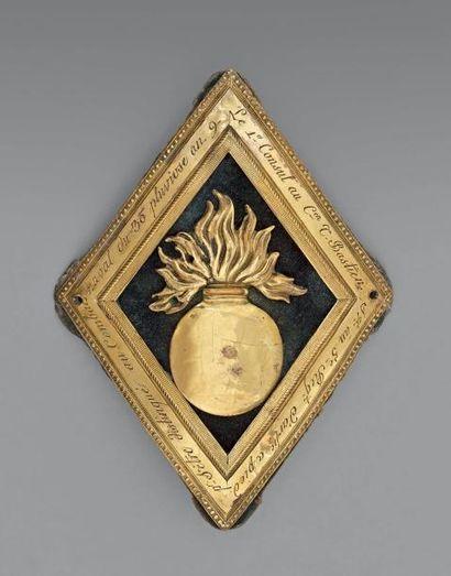 Rare grenade d'honneur décernée par le Premier Consul au citoyen Théodore Bastien,...