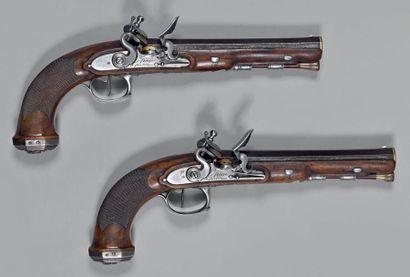 Paire de pistolets d'officier général d'après...