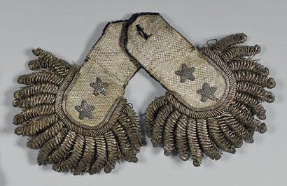 Paire d'épaulettes de maréchal de camp (général...