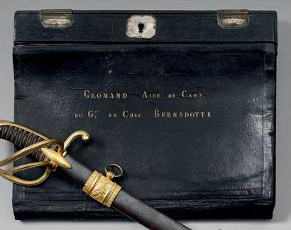 Portefeuille écritoire en maroquin noir,...