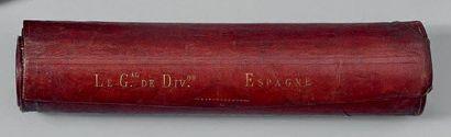 Portefeuille écritoire de campagne cylindrique...