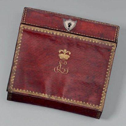Petit portefeuille écritoire en maroquin...
