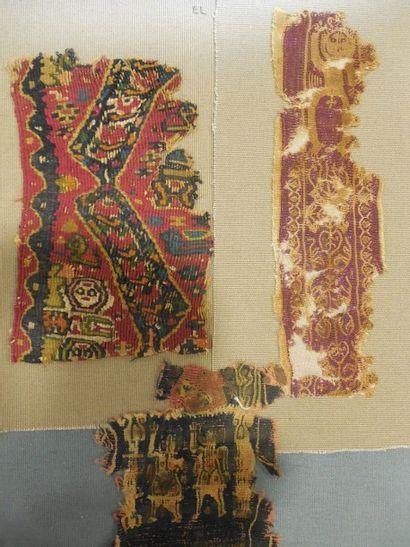 Trois fragments Coptes,VIIe et XVIIIe siècles....