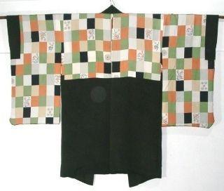 Kimono japonais, ère Taisho. Années 20. Crêpe...