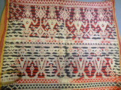 Gilet en coton façonné figuratif, Asie du...