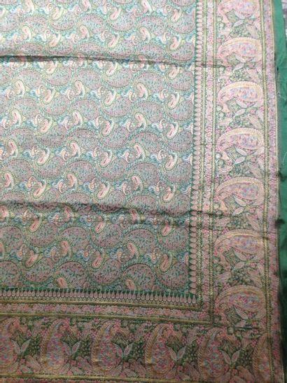 Grande tenture en brocart or, Varanasi, Inde,...