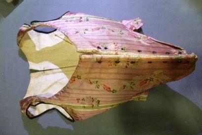 Corps à baleine en lampas, vers 1760. Lampas...