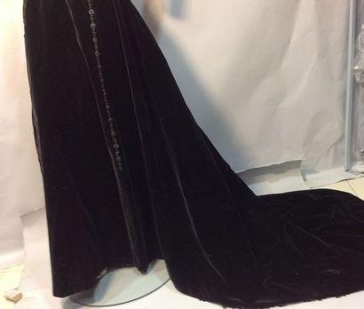 Jupe de robe de grand soir en velours, vers...