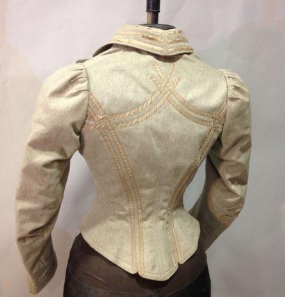 Veste de tailleur de plein air, vers 1890....