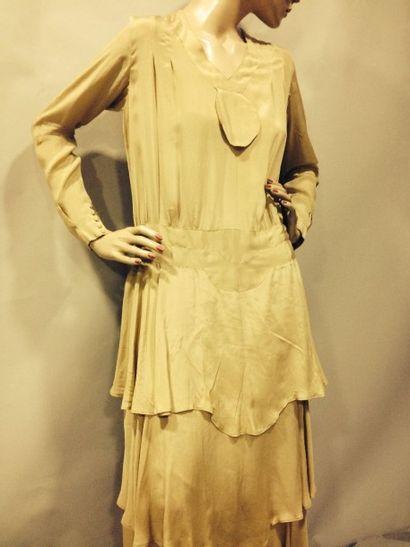Robe de jour, anonyme, vers 1925. Mousseline...