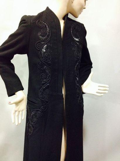 Manteau de jour, vers 1938-1940. Lainage...