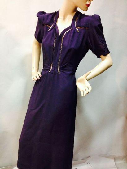 Robe de dîner, anonyme, vers 1940. Crêpe...