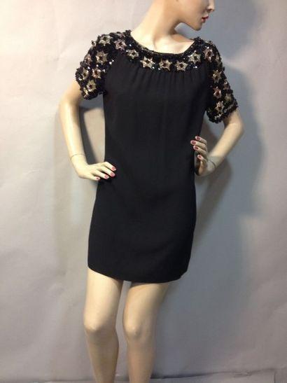 Mini-robe ou tunique pailletée, vers 1960....